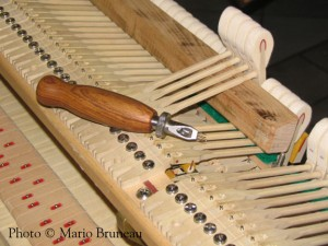 Harmonisation des marteaux de pianos